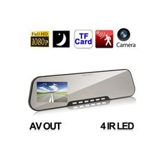 Rétroviseur aide au stationnement vision nocturne full HD 1080p - www.yonis-shop.com