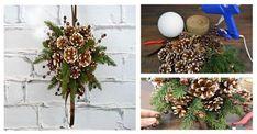 Wisząca dekoracja z szyszek: postaw na kreatywność tej zimy!