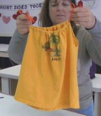 Little girl's dress from a T-shirt.  I need to try this! Looks easy enough for even me to make.