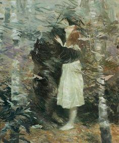 Lars Elling, The Kindness of Strangers, tempera et huile sur toile, 120×100 cm, 2014 Found on boumbang.com