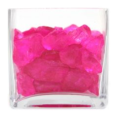 Crushed Glass Vase Fillers - Fuchsia Pink   #pink #fuchsia #vase #filler #pretty #decor