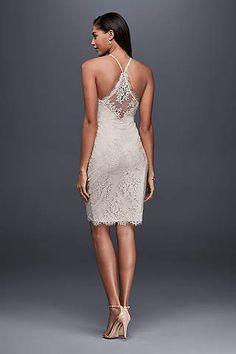 1b2aee2194c View Spaghetti Strap Short Wedding Dress at David s Bridal Causal Wedding  Dress