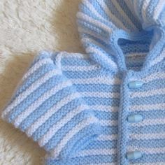 Hand Knitted Baby Hoodie by jayceeoriginals on Etsy,