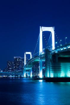 Rainbow Bridge, Tokyo I have a fascination with bridges!