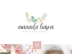 Bird LogoFloral Logo Design Events Logo Wedding Logo Decor