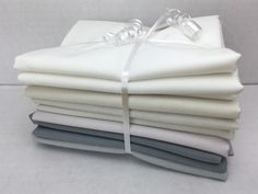 Moda Bella Solids Half Meter Bundle 7 Pieces Cool Light Neutrals  #quilting #spreadthelove #ruler #newstuff