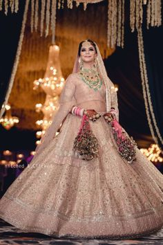 New royal bollywood light peach lehenga choli for bridal . For order whatsapp us on blouse combinations blouse saree blouse work blouse dupatta blouse blouse blouse blouse blouse blouse lengha Indian Bridal Outfits, Indian Bridal Fashion, Indian Bridal Wear, Indian Designer Outfits, Indian Dresses, Bride Indian, How To Dress For A Wedding, Wedding Dresses For Girls, Girls Dresses