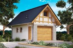 Projekt domu BW-03 wariant 5 108,7 m2 - koszt budowy - EXTRADOM Home Fashion, House Plans, Shed, Outdoor Structures, Cabin, How To Plan, House Styles, Home Decor, Little Cottages