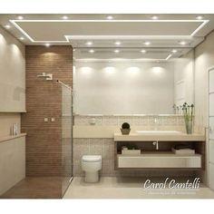 Banheiro da Área Gourmet ✨ Piso e Parede @portobello_sa | Detalhe de Pastilhas e Deck de madeira são da Portinari Por @carolcantelli Decoração de Interiores