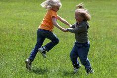 Hey you kids! Cut that dangerous activity out! KINDERGARTEN BANS TOUCHING AT RECESS.