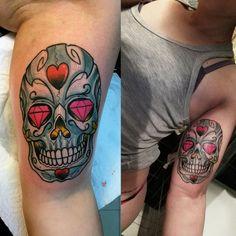 Sugar skull, new tattoo
