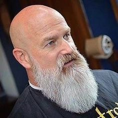 Looking to combine bald with beard styles? More and more men are trying one style or another. This gives you a lot of bald with beard styles to choose from. Bald Men With Beards, Bald With Beard, Grey Beards, Long Beard Styles, Beard Styles For Men, Hair And Beard Styles, Shaved Head With Beard, Bart Styles, Beard Styles