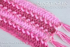 How To Crochet Hairpin Lace Fork Crochet Horquilla Free Pattern and YouTube Video by Naztazia