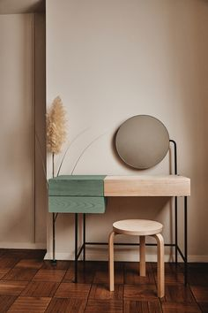 furniture photography Minimalist vanity desk from Dims is clean-lined and storage-filled - Curbed Minimalist Furniture, Minimalist Interior, Modern Minimalist, Minimalist Design, Modern Furniture Design, Simple Furniture, Recycled Furniture, Rustic Furniture, Design Industrial