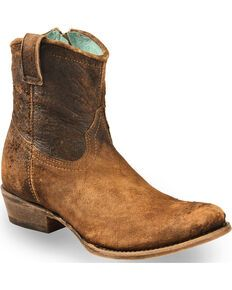Roper Women's Brown Selah Booties - Round Toe - Country Outfitter Short Cowgirl Boots, Kids Western Boots, Cowboy Boots Women, Kids Boots, Short Boots, Cowboy Hats, Western Wear, Cowboy Boot Store, Boots For Short Women