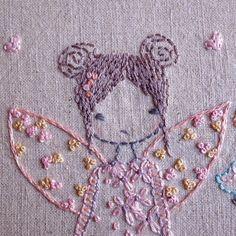 Bird house fairy hand embroidery pattern pdf