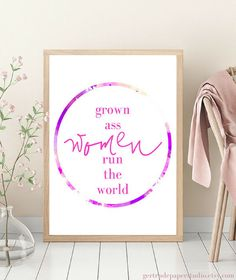 Add a little girl power to your office or home decor with this feminist quote from gertrudepaperstudio.etsy.com. #homedecor, #apartment, #interiordesign, #bohemian, #quotes, #printables, #walldecor, #bedroom, #office, #cubicle, #DIY, #wallart, #funny, #gallerywall, #dorm, #livingroom, #kitchen, #dorm, #feminist, #girlpower, #bosslady, #feminism, #style, #homeoffice, #framed