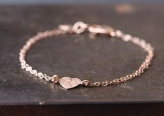 Bracelet coeur or rose