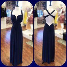Navy Blue Sexy Party Prom Dresses 2016 Cheap Vestido De Festa