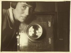 Trude Fleischmann in her studio, Vienna, 1929 .Trude Fleischmann (1895–1990) was an Austrian-born American photographer.  In 1920, at the age of 25, Fleischmann opened her own studio photographing music and theatre celebrities, becoming a notable society photographer.With the Anschluss in 1938, Fleischmann was forced to leave the country. She moved first to Paris, then to London and finally, in April 1939 to New York,where she re-established her business in 1940.