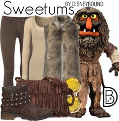 Stand tall and be stylish in this outfit inspired by the Muppet Sweetums.  | Disney Fashion | Disney Fashion Outfits | Disney Outfits | Disney Outfits Ideas | Disneybound Outfits |