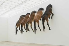 "Maurizio Cattelan ""Untitled"", 2007 / Taxidermized horses"