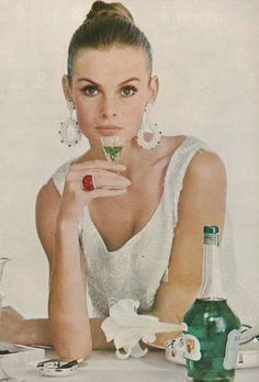 Vintage Vogue UK, November 1965. Model Jean Shrimpton photographed by Bailey for Beauty Editorial.
