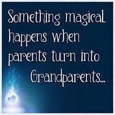 Something magical happens when parents turn into grandaprents . . . .