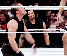 Roman's like: My brother Dean is nuts but I love him. Lol