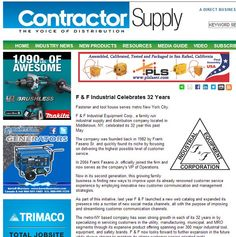 A special thank you to Contractor Supply Magazine for this recent feature highlighting our 2014 milestone of achieving 32 years in the industrial supply business.