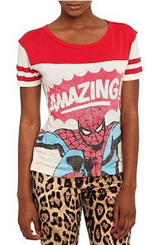 Marvel Universe Spider-Man Football Girls T-Shirt @ Hot Topic, $26.50