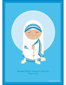 Blessed Mother Teresa of Calcutta, Pray for Us! Saint Teresa of Calcutta is the patron saint of World Youth Day Teaching Religion, Catholic Religion, Catholic Saints, Catholic Crafts, Catholic Kids, Roman Catholic, Catholic Homeschooling, Saint Teresa Of Calcutta, Clare Of Assisi