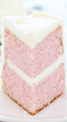 Valentine's Day ~ One Bowl Pink Velvet Cake - Pink Birthday Cake Ideen Cake Pink, Pink Velvet Cakes, Easy Cake Recipes, Dessert Recipes, Just Desserts, Delicious Desserts, Cake Candy, Cuisine Diverse, I Am Baker