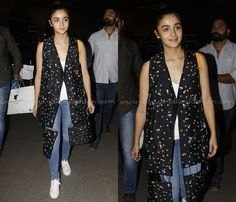 Alia Bhatt Airport Style, Alia Bhatt in Jeans and Tee at Airport, Alia Bhatt in Jeans Photos.