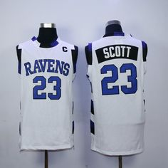 #OTH-inspired Tree Hill Ravens White Home Game Nathan Scott Replica Jersey via Amazon. #OneTreeHill