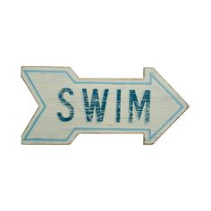 Which way to the pool? Where is the beach? This Directions Swim Sign offers hints and navigation, but mostly serves as a charming wall decoration that will round out your water-themed casual space. We ...  Find the Directions Swim Sign, as seen in the Stroll the Boardwalk in Atlantic City Collection at http://dotandbo.com/collections/stroll-the-boardwalk-in-atlantic-city?utm_source=pinterest&utm_medium=organic&db_sku=110511