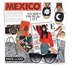 """""""Mexico Packing List"""" by akchesunel ❤ liked on Polyvore featuring See by Chloé, Aquazzura, Casetify, STOW, FOSSIL, Issa, Elizabeth and James, Prtty Peaushun, boho and mexico"""