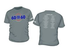 """""""60 for 60"""" T-Shirt  https://www.myplaydirect.com/george-strait/60-for-60-t-shirt/details/28155224?cid=social-pinterest-m2social-product_country=US=share_campaign=m2social_content=product_medium=social_source=pinterest"""