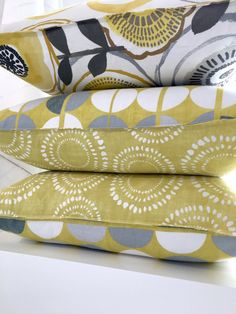 HOT DECOR IDEA: TWO-TONE SCATTER CUSHIONS — Stuart Graham Fabrics Scatter Cushions, Throw Pillows, Stuart Graham, Fabric Decor, Sunglasses Case, Fabrics, Change, Hot, Cape Town
