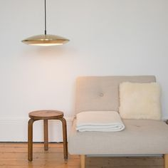 Brass Diskos Pendant Light by Jo Hammerborg for Fog & Mørup, 1960s for sale at Pamono