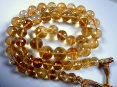 Citrine Quartz faceted beads
