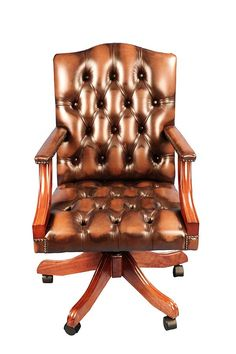 Gainsborough Style Swivel Leather Desk Chair | English Classics of Atlanta