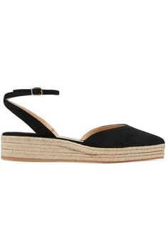 Paul Andrew - Rhea Suede Espadrilles - Black - IT36