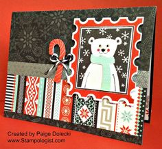 Paige Dolecki - Stampologist: October Stamp of the Month Blog Hop - Home for the Holidays Pop Up Card