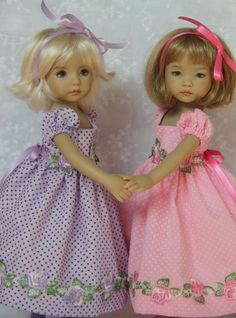 """Summer Sisters Pink ~ for Effner 13"""" Little Darling ~ by Glorias Garden"""