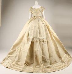 Evening dress ca. 1867 From the METROPOLITAN MUSEUM OF ART