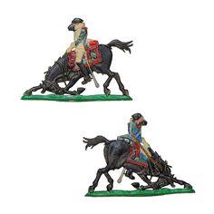 Guardia Imperial a caballo - Granadero a caballo herido (Plano de estaño - Editor y colección desconocidos, tal vez Heinrichsen - 30 mm)