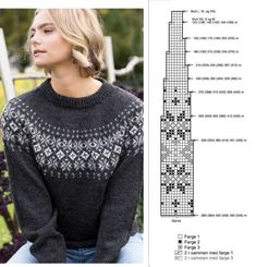 Fair Isle Knitting Patterns, Knitting Charts, Knitting Stitches, Knitting Yarn, Nordic Sweater, Double Knitting, Yarn Colors, Knit Crochet, Fashion