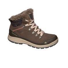 Botas de senderismo nieve mujer SH500 x-warm mid café eca59469aa53f