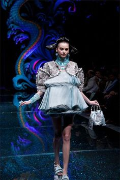 Guo Pei, 2007 Fashion Collection, here in The Legend of the Dragon Fashion Show, 2012